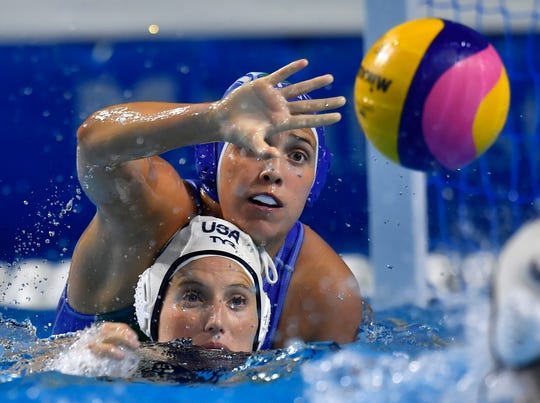 U.S. water polo player Kaleigh Gilchrist was injured when a balcony at a South Korean nightclub collapsed Saturday.