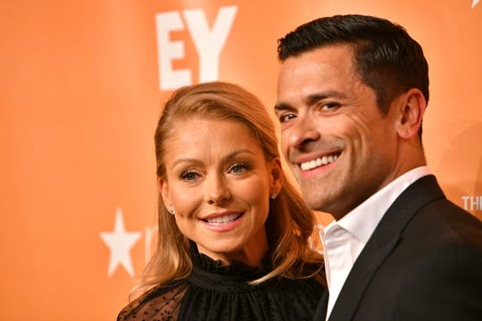 Kelly Ripa and Mark Consuelos attend TrevorLIVE NY 2019 on June 17, 2019 in New York City.
