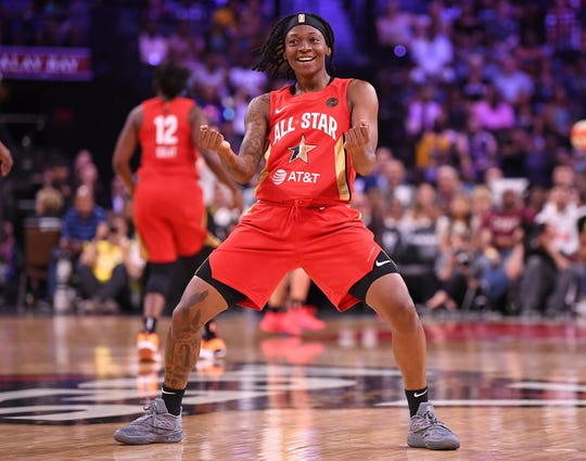 Guard Erica Wheeler, who plays for the Indiana Fever, was named MVP of the 2019 WNBA All-Star Game.