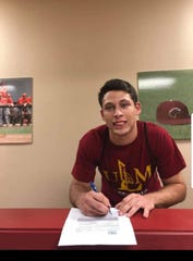 Buckeye outfielder Marcus Derbonne signed his National Letter of Intent with ULM baseball recently.