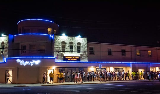 A crowd parties at Osprey Nightclub in Manasquan on Saturday, July 27, 2019.