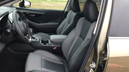 The 2020 Subaru Outback's Onyx edition has urethane upholstery that looks and feels like a modern hiking boot.