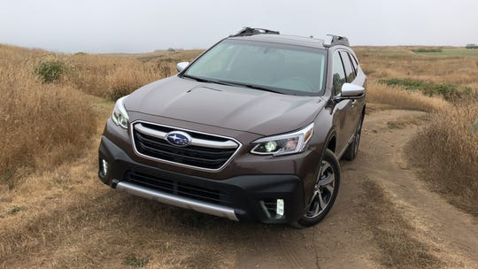 2020 Subaru Outback in Mendocino County on Northern California's Lost Coast