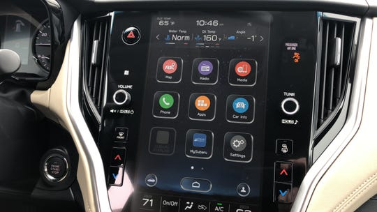 Optional 11.7-inch touch screen in 2020 Subaru Outback.