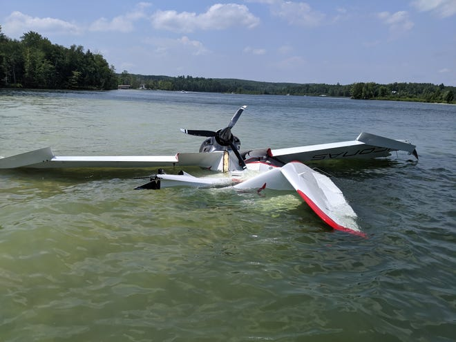 Isabella County sheriffs are investigating the crash of a single-engine, two-seat plane that hospitalized two men Saturday on Littlefield Lake in the northern part of the county.