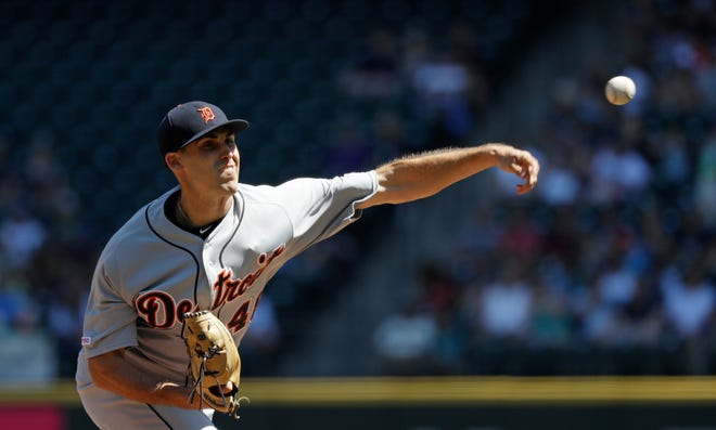 Tigers starting pitcher Matthew Boyd scattered three hits and struck out 10 over 6.1 innings on Sunday.