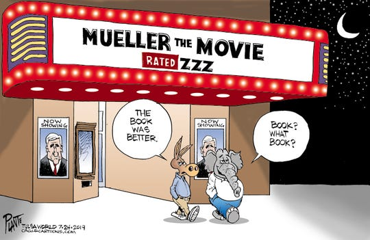 "The Mueller report. ""Book? What book?"""