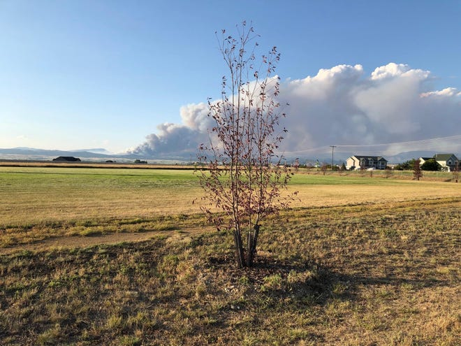 The north hills is burning north of Helena where 400 residents have been evacuated.