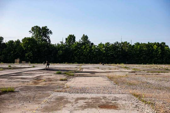 The remaining pieces to the once stamping crane bay at the GM plant located on 501 Dover St.