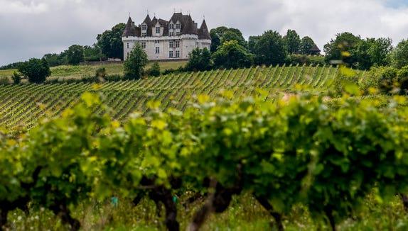 Chateau de Monbazillac near Bergerac, France.