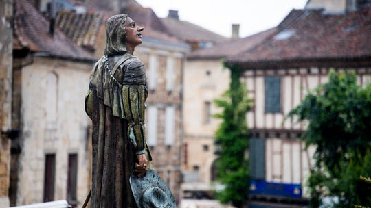 A statue of Cyrano in the French town of Bergerac