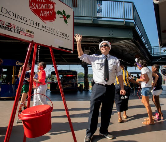 The Salvation Army will be around collecting donations Riverwalk Stadium during the New Year's Eve street party.