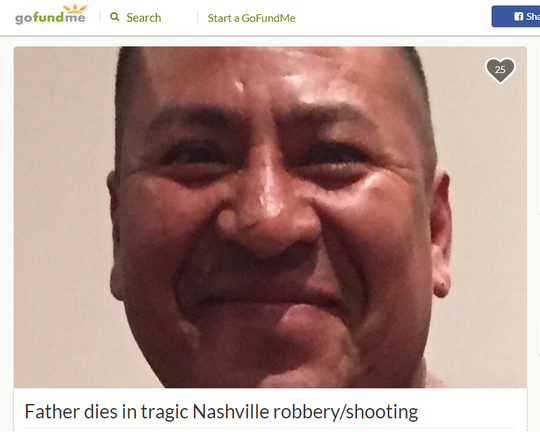 Friends started a GoFundMe for the children of Marcos Reyes-Hernandez, who was fatally shot in Nashville on Tuesday, July 23, 2019.