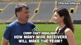 Tom Silverstein and Olivia Reiner discuss the competition at wide receiver and speculate how many will end up making the Packers 53-man roster.