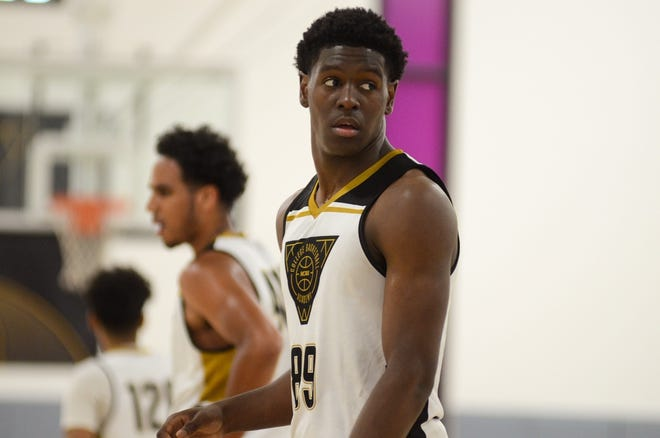 Jul. 26, 2019; TJ Bamba looks on during a  game at NCAA West Region Basketball Academy in Grand Canyon University