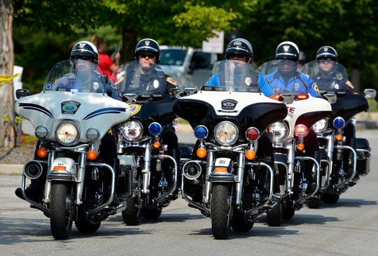 More than 200 motorcyclists take part in the 16th Annual Bike Run to Benefit Homes for Our Troops from Texas Roadhouse in York to Battlefield Harley Davidson in Gettysburg, Sunday, July 28, 2019. 