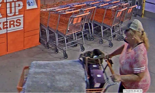 Springettsbury Township Police are seeking the identity of this woman, suspected of theft at the Home Depot, 2905 E. Market St., on July 19.