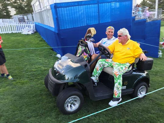 John Daly made the cut and has 14 points in the Barracuda Championship.
