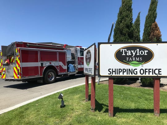 Salinas firefighters responded to an ammonia leak Sunday. July 25, 2019.