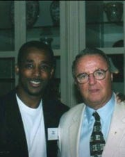 Bobby Jackson with Bobby Bowden.