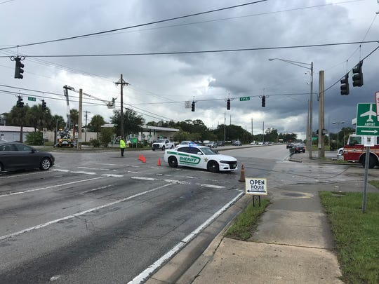 A lightning strike caused power outages and blocked traffic at State Road 60 and 43rd Avenue in Vero Beach July 28, 2019