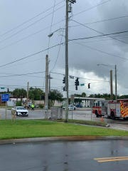 Authorities were on the scene of reported power lines down following a lightning strike near State Road 60 and 43rd Avenue, in Vero Beach, July 28, 2019