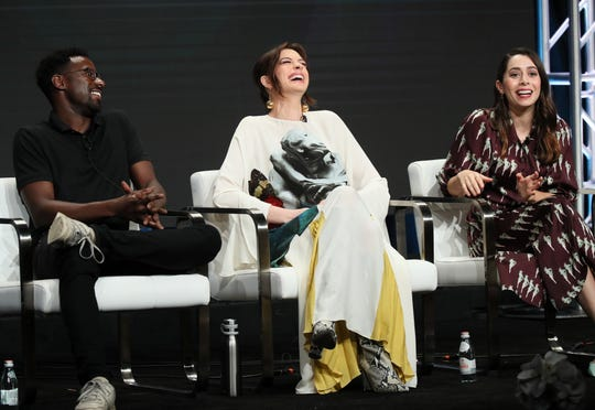 """Gary Carr, Anne Hathaway and Cristin Milioti star in """"Modern Love,"""" coming to Amazon this fall."""