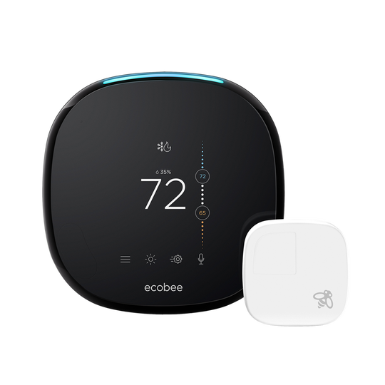 Wi-Fi thermostats like Google Nest and ecobee4 (pictured here) help you save about 23% annually on your heating and cooling bills.
