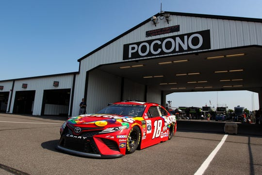 Kyle Busch will attempt to win his third consecutive NASCAR Cup race at Pocono Raceway.