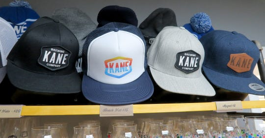 "Hats for sale at ""Kane Brewing Company"" in Ocean Township Monday, July 29, 2019."