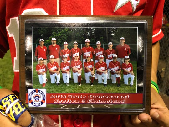Each member of the Holbrook 12-year-old Little League was given this plaque following Sunday's 10-7 loss to Elmora Youth in the state tournament championship game