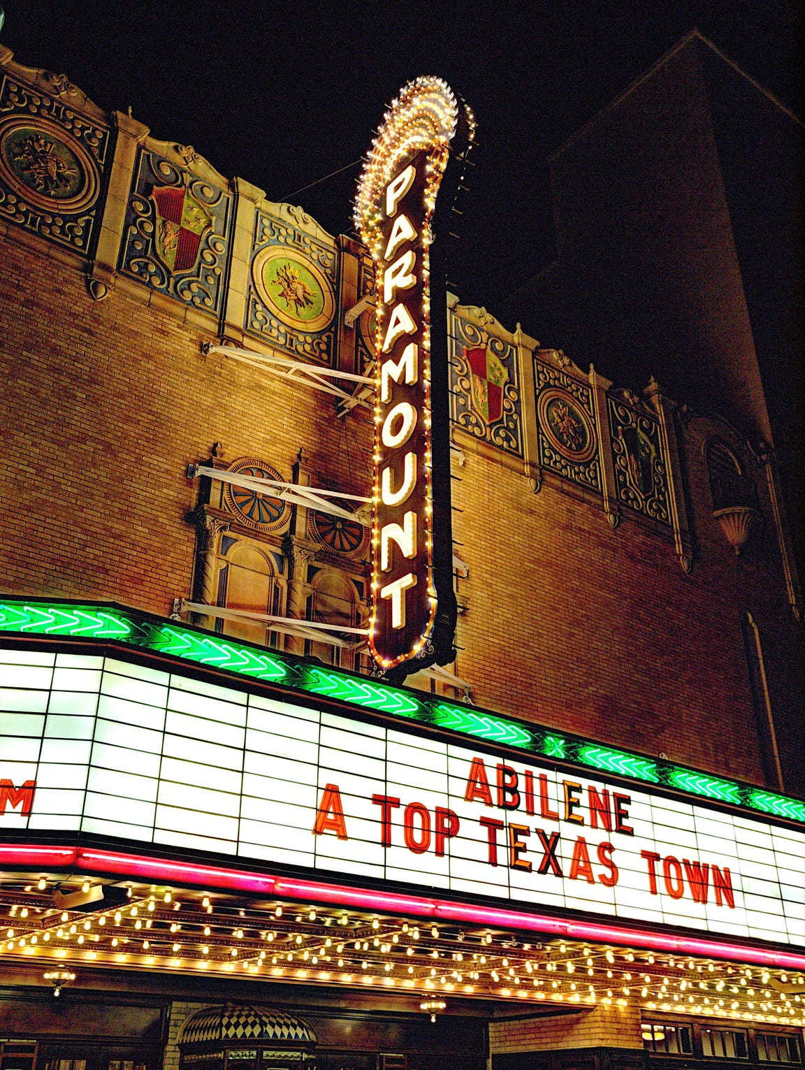 The Paramount Theatre marquee says it all about our town.