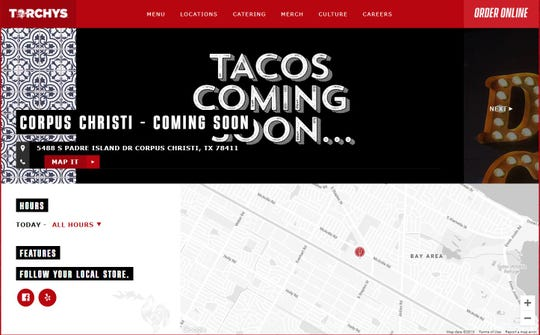 Torchy's Tacos announced a Corpus Christi location on its website.