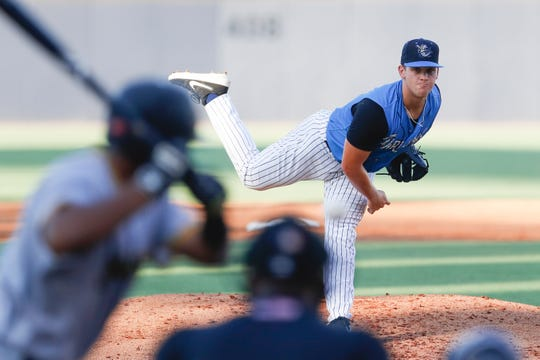 Paul VI graduate Shawn Semple pitches for the Tampa Tarpons, the New York Yankees' High-A affiliate, on May 31. Semple was promoted to Double-A Trenton last week.