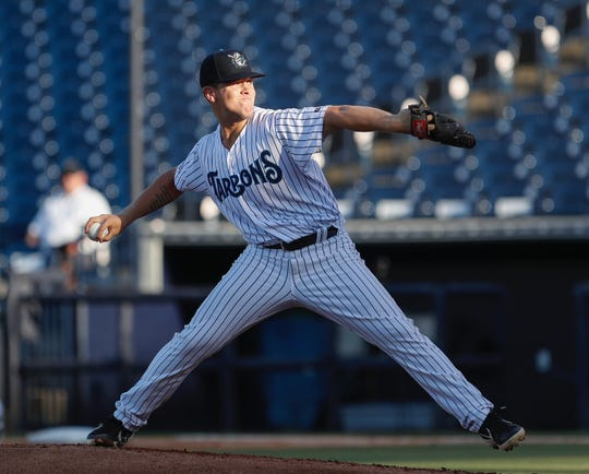 Shawn Semple, a Paul VI graduate, pitches for the Tampa Tarpons, the New York Yankees' High-A affiliate, on May 7. Semple was recently promoted to Double-A Trenton.