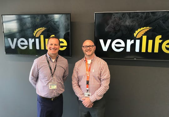 PharmaCann Spokesman Jeremy Unruh, left, and Verilife General Manager Chaz Mize.