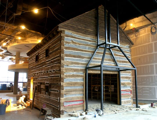 "Reconstruction continues of a period ""Slave Pen"" found in Maysville, OH at the National Underground Railroad Freedom Center Friday February 6, 2004."