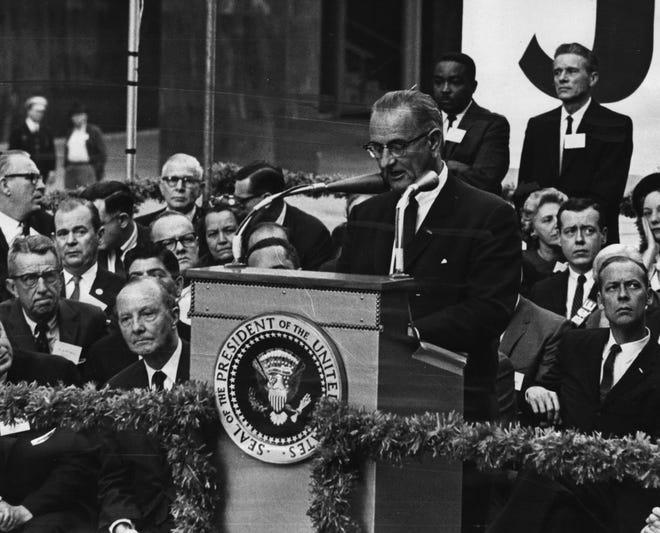 OCTOBER 17, 1964: President Johnson speaks at Government Square in Cincinnati