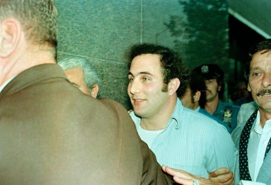 "David Berkowitz, who also called himself ?Son of Sam,? is seen in police custody in 1977. "".44 Caliber Killer"" David Berkowitz, who also called himself ""Son of Sam"" is seen in police custody in 1977."