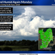 Thunderstorms Monday afternoon, then cool and dry this week