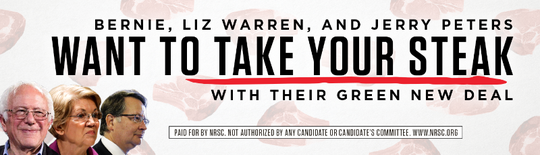 Image of the National Republican Senatorial Committee's billboard in Detroit.