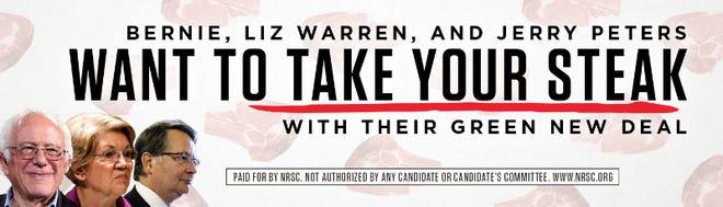 Image of the National Republican Senatorial Committee's billboard in Detroit.