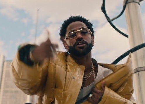 "Big Sean in the ""Single Again"" video."