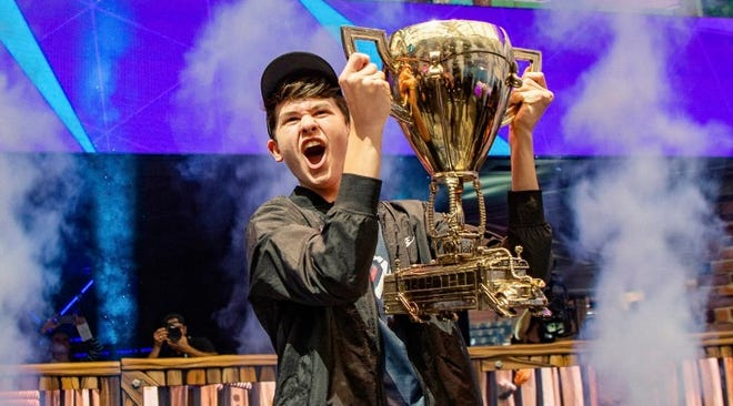 Kyle Giersdorf, of Pottsgrove, Pennsylvania, has won $3 million as the first Fortnite World Cup solo champion.