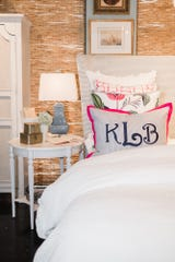 Monograms are a great way to add a personal touch to your bedroom decor.