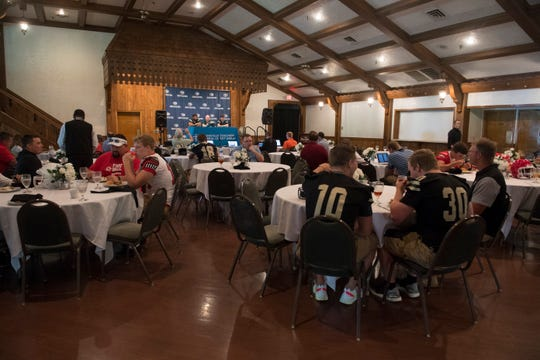 Local teams gather at The Bauerhaus during High School Football Media Day 2019 Monday, July 29, 2019.