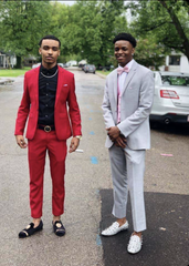 From left, Keanthony Waters, 17, and Jaiwaun Wadlington, 18, pose before their 2019 prom.