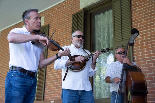 The Bridge County Bluegrass Band performed a Verandah Concert on  July 24 at the Hayes Presidential Library & Museums.