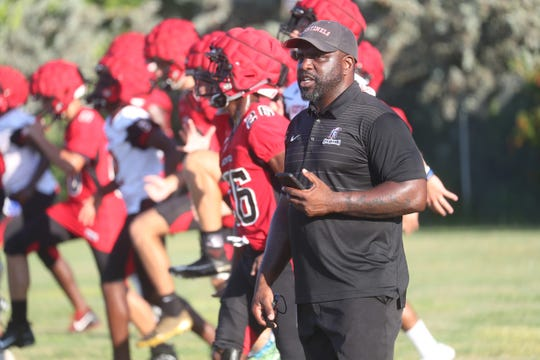 The Evangelical Christian School football team held its first day of practice on Monday, July, 29.
