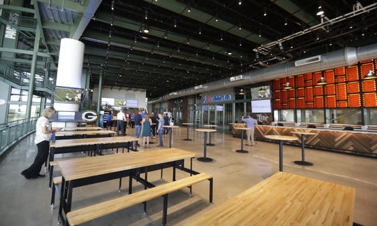 The Green Bay Packers on July 29, 2019, unveiled the new U.S. Cellular Loft in the Lambeau Field Atrium, a place for fans to gather, watch the game and charge their electronic devices. They also can take selfies, get drinks from the loft bar and check out portable wireless chargers for free.
